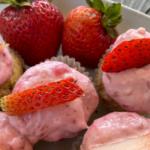 Raspberry Strawberry Keto Cupcakes