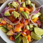 Tomato Cucumber Lime Salad